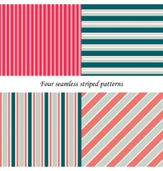 Set of classic seamless striped patterns vector image vector image