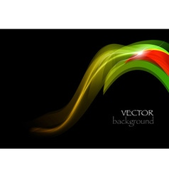 wave dark curve green and red vector image