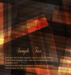 Dark brown geometric background for design vector image vector image