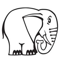 elephant logo black and white vector image