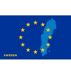 Flag of European Union with Sweden on background vector image vector image