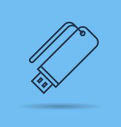 icon portable data storage usb vector image