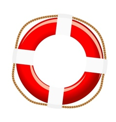 Isolated life buoy vector image