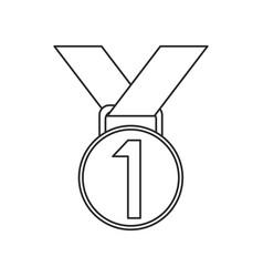 medal award winner sport thin line vector image vector image