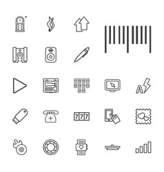 22 digital icons vector