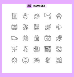 25 thematic lines and editable symbols play vector