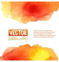 Abstract watercolor background for your design vector image