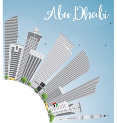 Abu Dhabi City Skyline with Gray Buildings vector