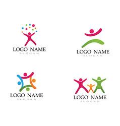 Adoption children logo and symbol health vector