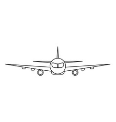 airplane outline vector image