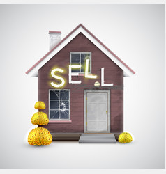an old house to sell vector image