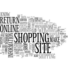 Are you a savvy online shopper text word cloud vector