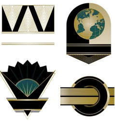 Art Deco logos and design elements vector image
