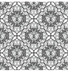 Baroque seamless pattern greek key meander vector