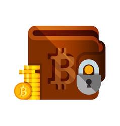 bitcoin wallet vector image