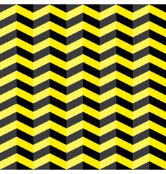 Black and yellow chevron seamless pattern vector image