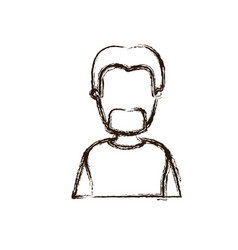 blurred silhouette caricature faceless half body vector image