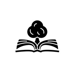 book of knowledge black icon sign on vector image