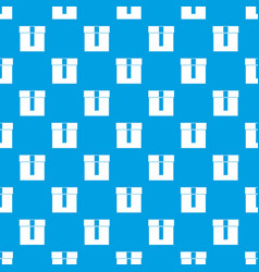 box pattern seamless blue vector image