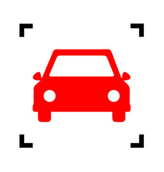 car sign red icon inside vector image