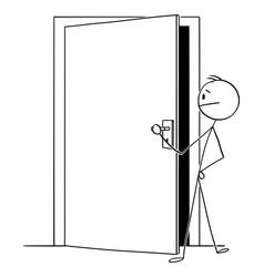 cartoon man or businessman looking through vector image