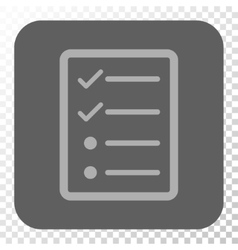 Checklist Page Rounded Square Button vector