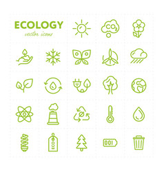 colorful ecological icons in set vector image