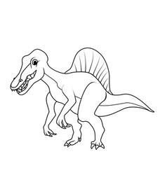 coloring book spinosaurus dinosaur vector image