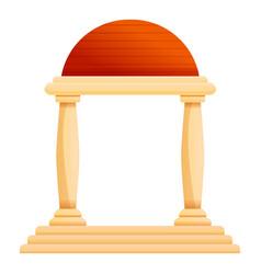 Column arch icon cartoon style vector