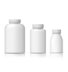 Cool realistic white plastic bottle set vector