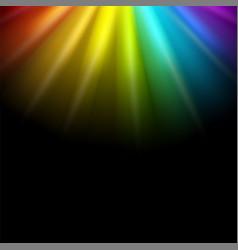Creative of rainbow glare vector