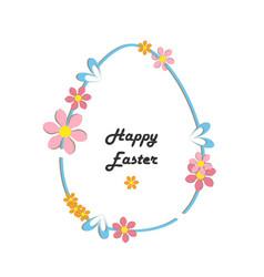 Decorative floral frame spring time easter vector