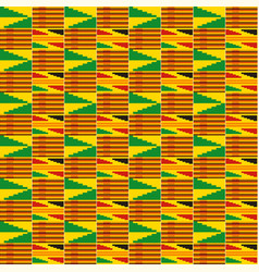 Ethnic seamless pattern kente cloth tribal print vector