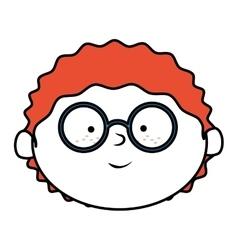 Face boy smile isolated icon design vector