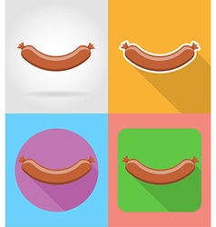 fast food flat icons 09 vector image