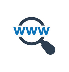 Find web address icon vector