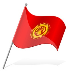 Flag of Kyrgyzstan vector