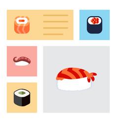 Flat icon maki set of gourmet eating sashimi and vector