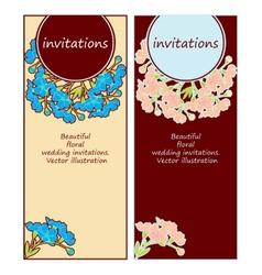 floral wedding invitations vector image