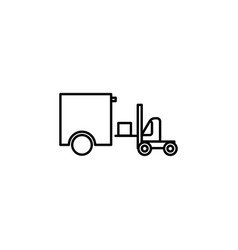 forklift truck icons vector image