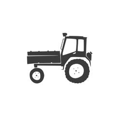 fun tractor icon vector image