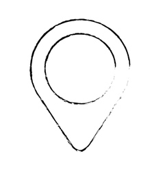 Gps pin icon image vector