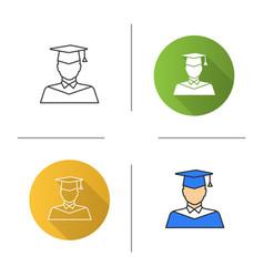 graduate student icon vector image