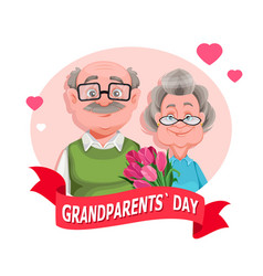 Grandparents day grandmother and grandfather vector