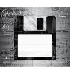 Grungy floppy vector
