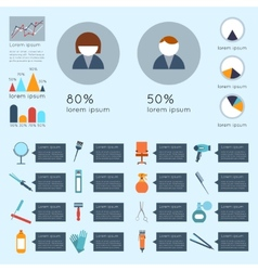 Hairdresser infographic set vector image