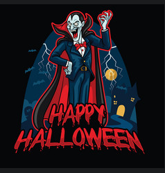 Halloween design of dracula vector