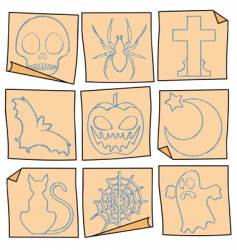 Halloween post-it vector image