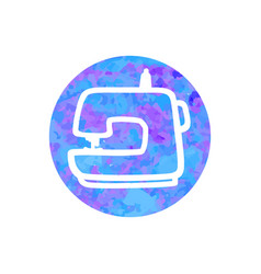 hand drawn icon sewing machine vector image