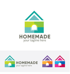House design concept colorful vector